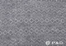 Plaid Hekla lichtgrijs detail