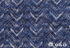 Plaid Himalaya sea blue detail