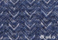 Plaid Himalaya sea blue detail