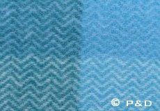 Plaid Inez aqua detail