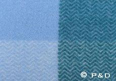 Plaid Inez aqua blauw