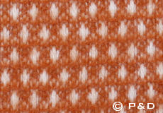 Plaid Knut roest oranje detail