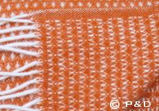 Plaid Knut roest oranje dessin