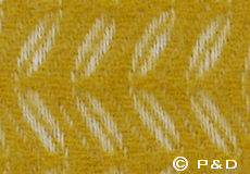 Plaid Leaf geel detail