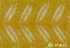 Plaid Leaf geel detail