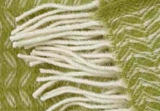 Plaid Leaf groen franjes