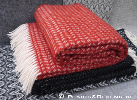 Plaid Leaf tibetan red