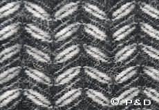 Plaid Leaf zwart detail