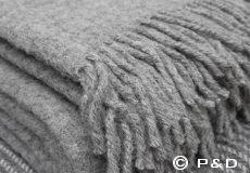Plaid Loop grijs franjes