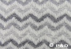 Plaid Mosaik grijs detail