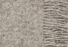 Plaid Nature Samso grijs franjes