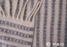 Plaid Olle grijs detail