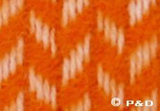 Plaid Polka oranje detail
