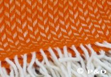 Plaid Polka oranje franjes