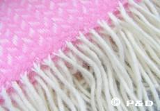 Plaid Polka roze franjes
