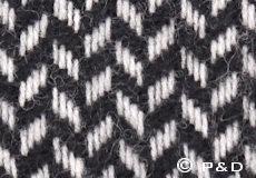 Plaid Polka zwart detail
