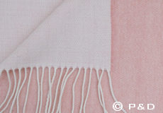 Plaid Porto rose taupe franjes