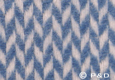 Plaid Pulse China blue detail