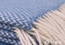 Plaid Pulse China blue franjes