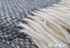 Plaid Pulse grey franjes