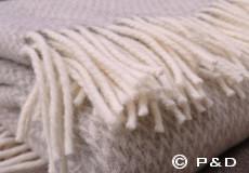 Plaid Pulse sand franjes