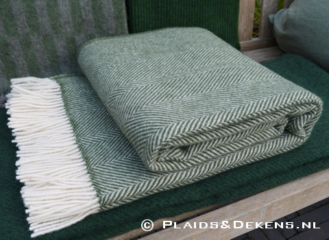 Plaid Romo Herringbone groen