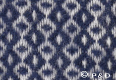 Plaid Rumba navy detail