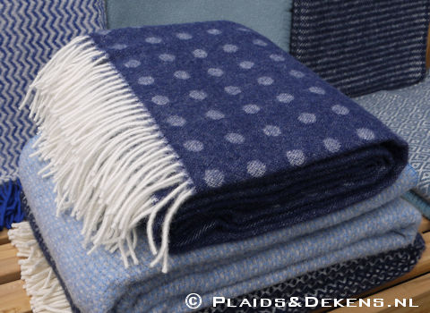 Plaid Spot blue