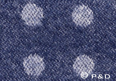 Plaid Spot blue detail