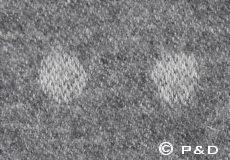 Plaid Spot grijs detail