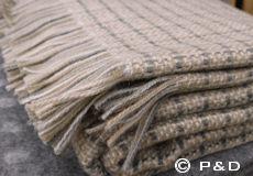 Plaid Stitch beige franjes