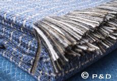 Plaid Stitch blue franjes