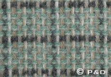 Plaid Stitch groen detail