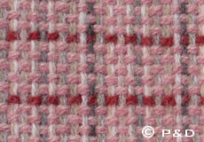 Plaid Stitch roze detail