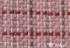 Plaid Stitch roze detail