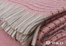 Plaid Stitch roze franjes