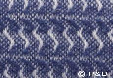 Plaid Sumba ash blue detail