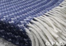 Plaid Sumba ash blue franjes