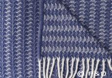 Klippan plaid Sumba ash blue