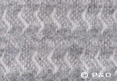 Plaid Sumba lichtgrijs detail