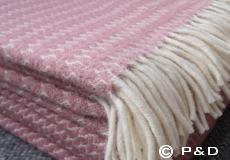 Plaid Sumba roze franjes