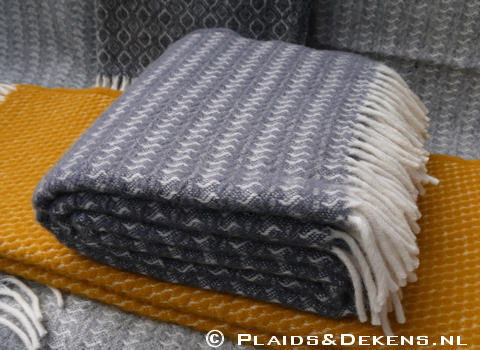 Plaid Sumba warm grey