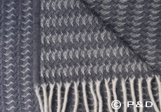 Plaid Sumba warm grey Klippan