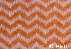 Plaid Tango oranje detail
