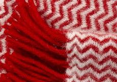 Plaid Tango rood franjes
