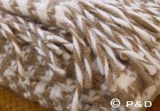 Plaid Tweed barque detail