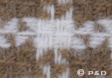 Plaid Tweed barque franjes