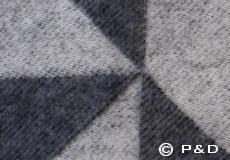 Plaid Twist a Twill donkergrijs detail