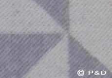 Plaid Twist a Twill lichtgrijs detail