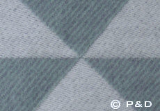 Plaid Twist a Twill ocean grey detail